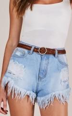 Change It All leather belt in tan
