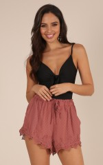 Matter of Habit shorts in dusty rose