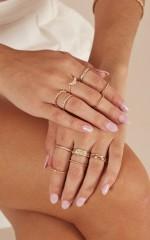 Drift Away 12 pc ring set in gold