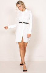 Big Picture shirt dress in white