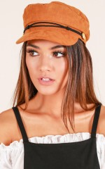 Boss Woman Conductor hat in tan