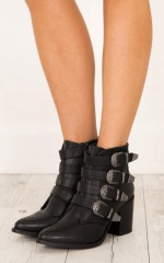Therapy Shoes - Bexar Boots in black