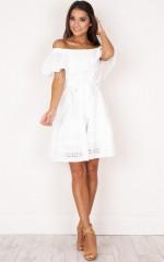 Crafty Dress in white