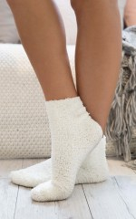 Cold Feet socks in white