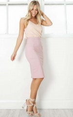 Claim It Back skirt in mauve