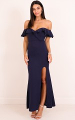 Centre Stage maxi dress in  navy