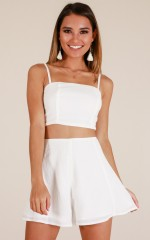 Camila two piece set in white