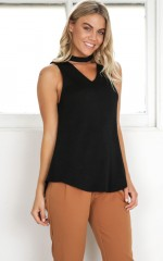 First Choice Top in black