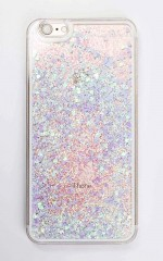 Flying Over Neverland iphone cover in blue glitter - 6 plus