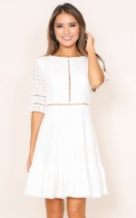 Georgine dress in white
