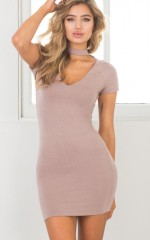 Girls Night Out dress in mocha