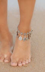 Gypsy Dancer Anklet in Silver