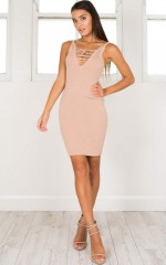 Hello Friday Dress in mocha