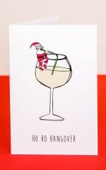 Ho Ho Hangover card
