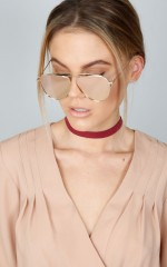 Hollywood Hills sunglasses in gold and pink