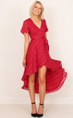 Innocence Maxi Dress in Berry Lurex