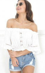 Mi Amore crop top in white