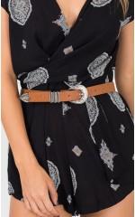 New Order belt in tan