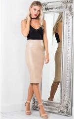 On Fleek skirt in beige leatherette
