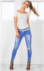 Olivia skinny jeans in mid wash denim