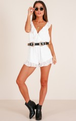 Pretty And Free Playsuit in White