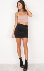 Picture Frames mini skirt in black