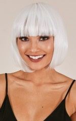 Sia Synthetic Wig in diamond white