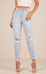 Melissa mum jeans in light wash