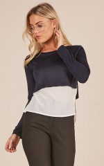 All I Wanted top in navy