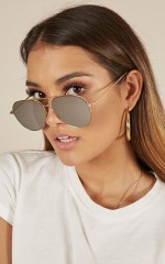 Pull Me Down sunglasses in gold and black