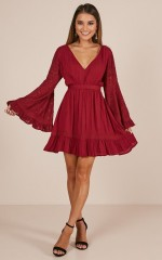 Grow And Behold dress in wine