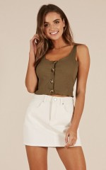 Young Lover top in khaki