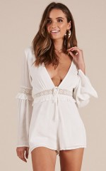 Fading Dream playsuit in white