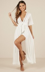 Sweet Smile maxi playsuit in white