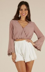 Missing Link top in mocha