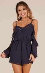 Take Time Out playsuit in navy