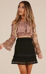 Miss Me Now Skirt in black