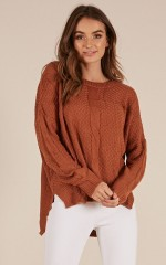 Thrill Of It knit sweater in rust