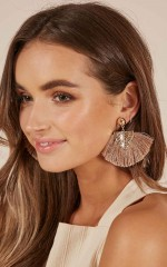 Lovebug earrings in gold