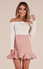 Slowly But Surely skirt in blush