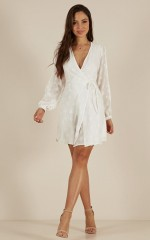 Stuck With Me dress in white star print