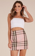 Touch The Sky skirt in pink check