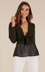 Sweet and Sour Top in black