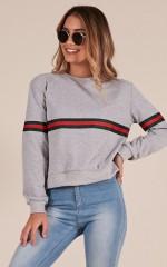 The Way It Seems sweatshirt in grey