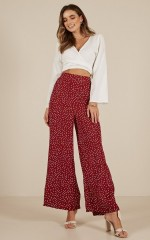 Days Like This pants in wine polkadot