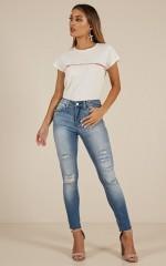 Bekah skinny jeans in light wash