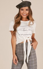 Bonjour Amour top in white