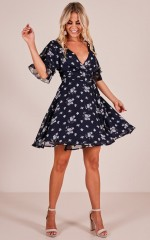 Simply Be dress in  navy floral