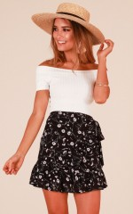 Sweet Time skirt in navy floral