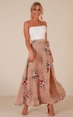 Break A Leg Skirt in mocha floral